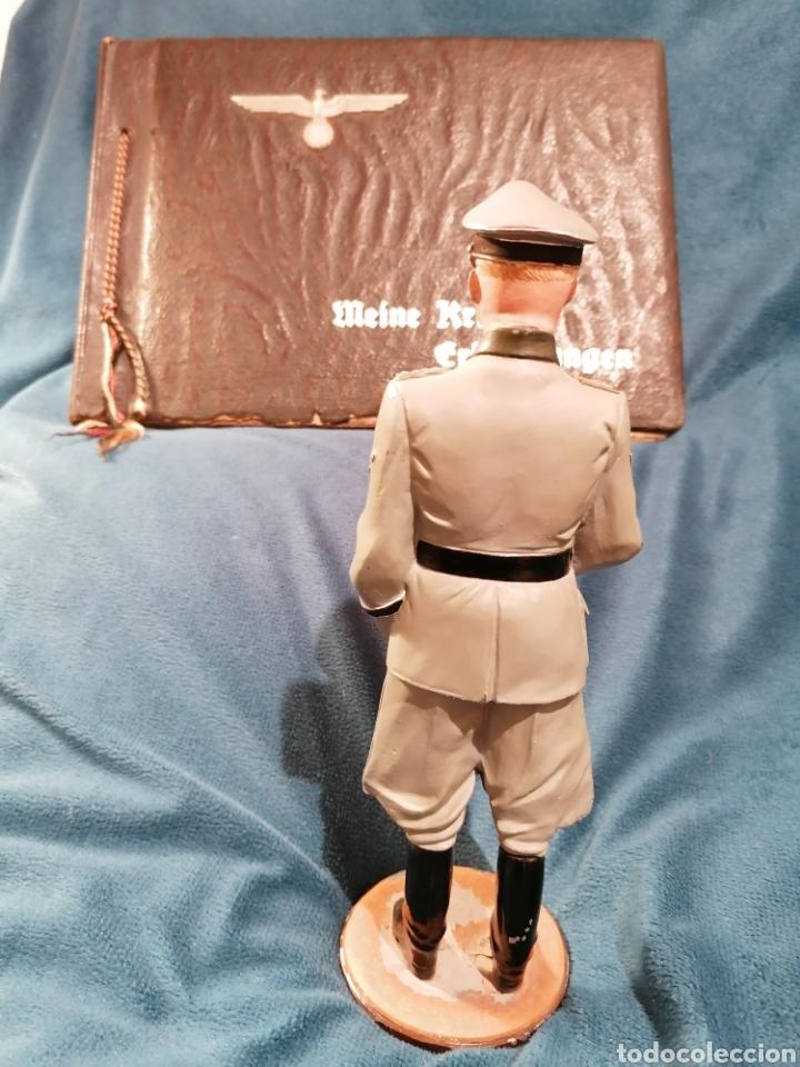 Militaria: GRAN FIGURA DE PLOMO OFICIAL ALEMAN DE LAS SS. WWII. FIRMADA DE PRADO 91 - Foto 6 - 189295441