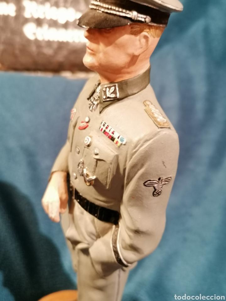 Militaria: GRAN FIGURA DE PLOMO OFICIAL ALEMAN DE LAS SS. WWII. FIRMADA DE PRADO 91 - Foto 8 - 189295441