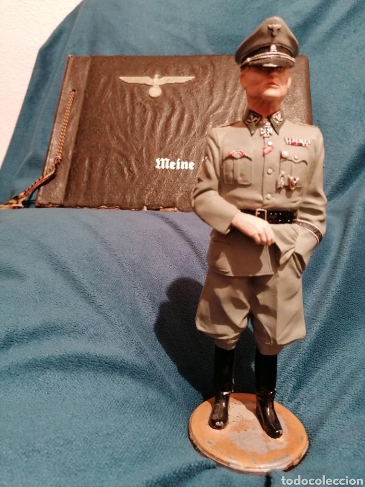 Militaria: GRAN FIGURA DE PLOMO OFICIAL ALEMAN DE LAS SS. WWII. FIRMADA DE PRADO 91 - Foto 14 - 189295441