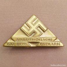 Militaria: INSIGNIA III REICH. PARTIDO NAZI - ARBEITSSCHLACHT GAU BAYERN OSTMARK.. Lote 288568133