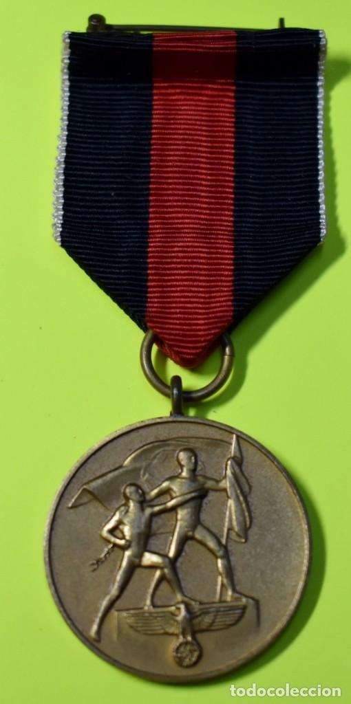 MEDALLA DE ALEMANIA DE LA ANEXION DE LOS SUDETES.SEGUNDA GUERRA MUNDIAL. (Militar - II Guerra Mundial)