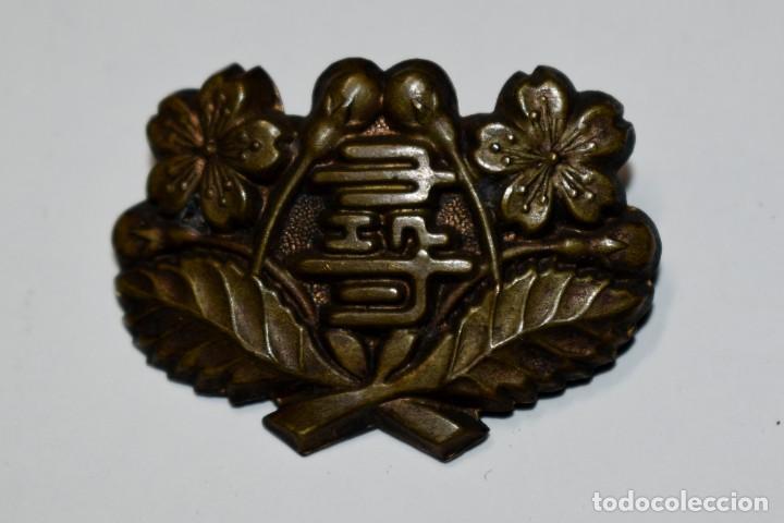 RARISIMA INSIGNIA DE GORRA DE LA ESCUELA ELEMENTARIA HIROSHI.TOKIO.SEGUNDA GUERRA MUNDIAL (Militar - II Guerra Mundial)