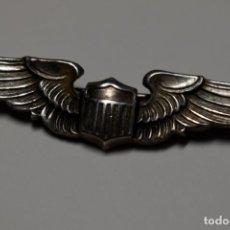 Militaria: INSIGNIA DE PLATA PARA GORRA GARRISON PILOTO FUERZAS AEREAS DE LOS ESTADO UNIDOS.2ª GUERRA MUNDIAL. Lote 193580074