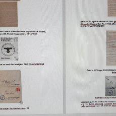 Militaria: GRAN COLECCIÓN APROX. 1500 DOCUMENTOS RELACIONADOS II GUERRA MUNDIAL Y HOLOCAUSTO. Lote 194213062