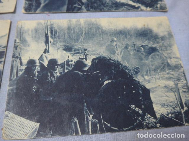 Militaria: * Lote 4 antiguas postales de la division azul, una rara. Originales. II guerra mundial. ZX - Foto 2 - 194238331