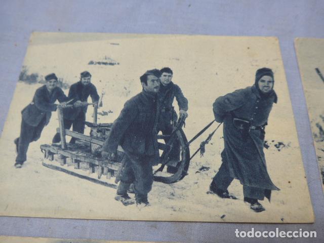 Militaria: * Lote 4 antiguas postales de la division azul, una rara. Originales. II guerra mundial. ZX - Foto 3 - 194238331