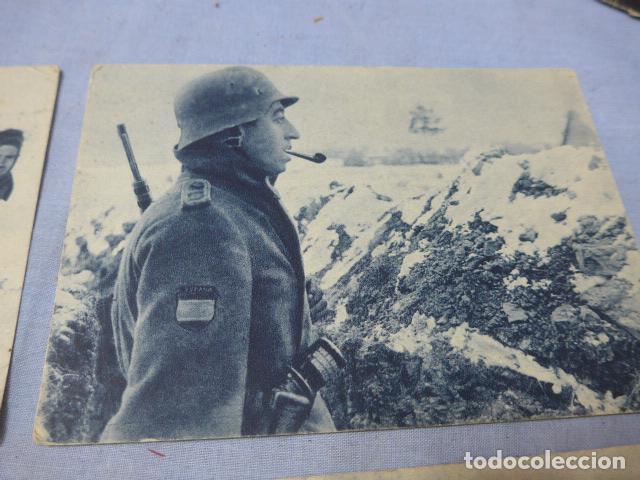 Militaria: * Lote 4 antiguas postales de la division azul, una rara. Originales. II guerra mundial. ZX - Foto 5 - 194238331