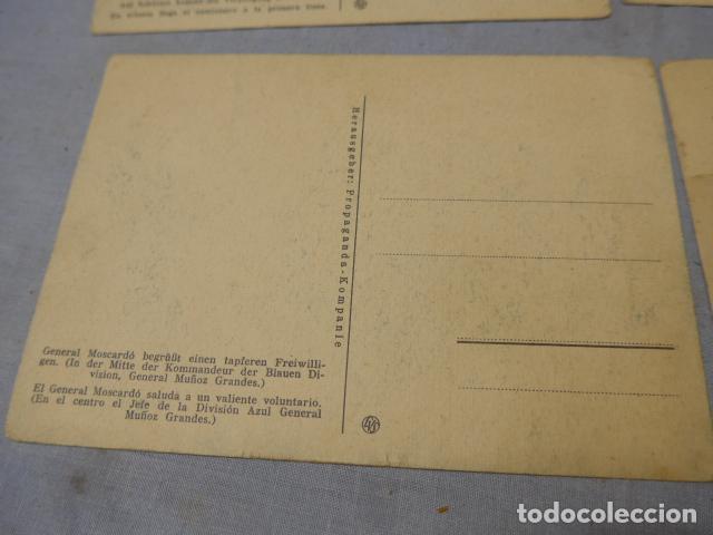 Militaria: * Lote 4 antiguas postales de la division azul, una rara. Originales. II guerra mundial. ZX - Foto 7 - 194238331