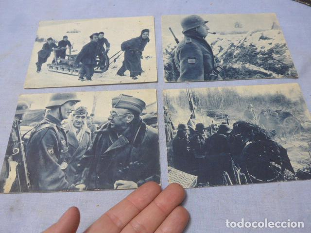 * LOTE 4 ANTIGUAS POSTALES DE LA DIVISION AZUL, UNA RARA. ORIGINALES. II GUERRA MUNDIAL. ZX (Militar - II Guerra Mundial)
