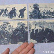 Militaria: * LOTE 4 ANTIGUAS POSTALES DE LA DIVISION AZUL, UNA RARA. ORIGINALES. II GUERRA MUNDIAL. ZX. Lote 194238331