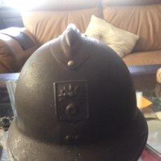 Militaria: CASCO DEFENSA PASIVA FRANCESA CON INTERIOR COMPLETÓ WWII. Lote 194403841