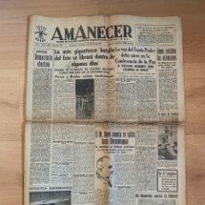 Militaria: DIARIO AMANECER. 18 FEBRERO 1945. NOTICIAS Y MAPA II GUERRA MUNDIAL. Lote 194557501