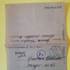 Militaria: CARTA DIVISION AZUL RUSIA 1943 EJÉRCITO . Lote 194670496