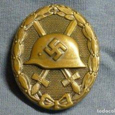 Militaria: PLACA DE HERIDO EN PLATA, MACIZA, FABRICADA EN TOMBAK, MARCAJE 30 DE HAUPTMÜNZAMT, VIENA. Lote 194722297