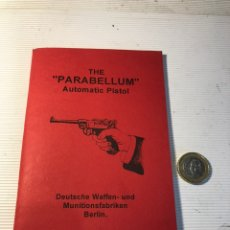 Militaria: MANUAL LUGER P08. Lote 194914555