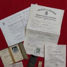 Militaria: DIARIO CAMPO DE CONCENTRACIÓN Y DOCUMENTOS RESISTENCIA ARMADA BELGA. DEMARET LUCIE. Lote 194972688