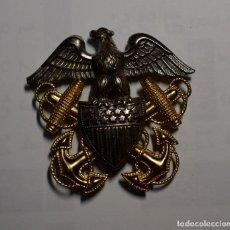 Militaria: INSIGNIA DE PLATA Y ORO DE OFICIAL DE LA MARINA DE GUERRA DE ESTADOS UNIDOS.2ª GUERRA MUNDIAL.. Lote 195306205