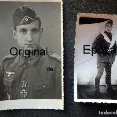 Militaria: (JX-200275)DOS FOTOGRAFÍAS DE DIVISIONARIOS ESPAÑOLES,DIVISION AZUL,RUSIA,SEGUNDA GUERRA MUNDIAL.. Lote 195369822