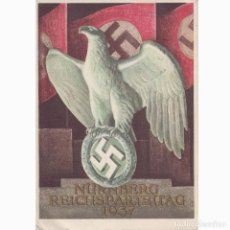 Militaria: POSTAL CELEBRACION DEL DÍA DEL PARTIDO NAZI EN NUREMBERG SEPTIEMBRE 1937. MUY RARA.NAZI.III REICH.. Lote 197216922
