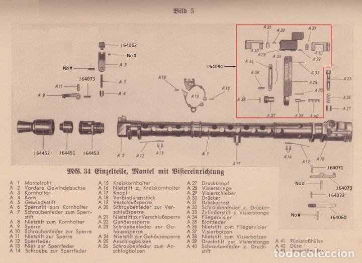 Militaria: Pieza de alza MG34, Wehrmacht Luftwaffe Kriegsmarine SS Falschirmjäger - Foto 7 - 199861400
