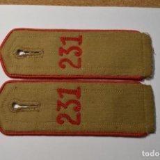 Militaria: PAREJA DE HOMBRERAS DEL 231 REGIMIENTO DE LAS JUVENTUDES HITLERIANAS ALEMANAS.2ª GUERRA MUNDIAL. Lote 200791146