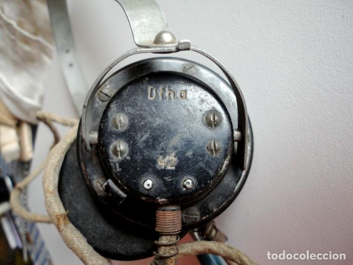 Militaria: Auriculares Dfh.a para operador de radio. Wehrmacht, Luftwaffe, AfriKa Korps, SS, 2ªGM - Foto 2 - 201144671