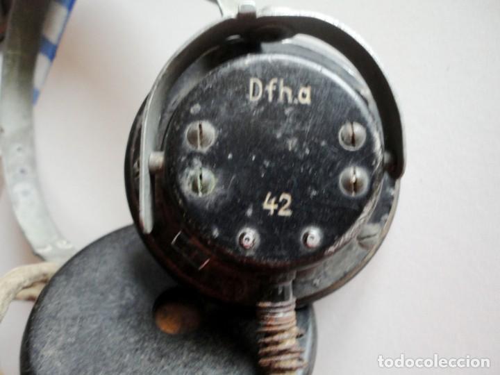Militaria: Auriculares Dfh.a para operador de radio. Wehrmacht, Luftwaffe, AfriKa Korps, SS, 2ªGM - Foto 3 - 201144671