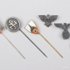 Militaria: LOTE DE 6 PIN-AGUJAS DEL TERCER REICH ORIGINALES 2WW. Lote 201212020