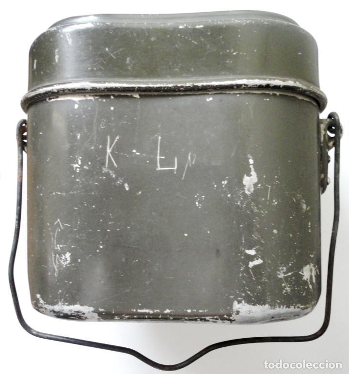 Militaria: Marmita alemana mod. 31, de aluminio, 1937-38. Wehrmacht SS LW Falschirmjäger 2ªGM - Foto 2 - 201550263