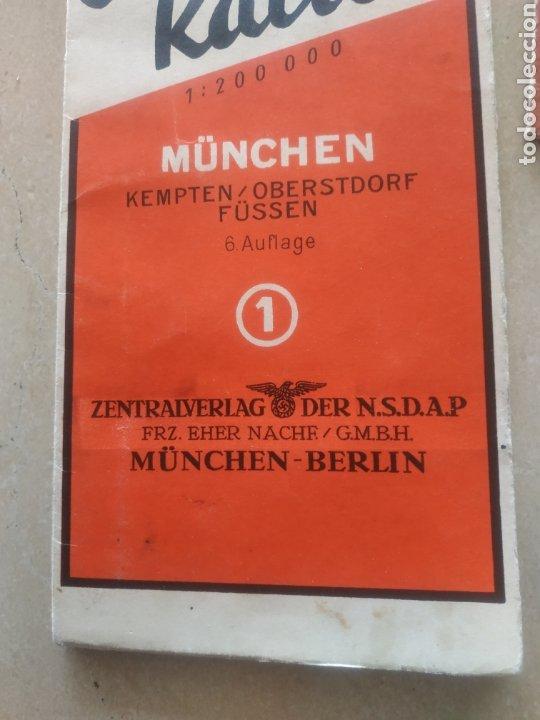 Militaria: Lote de cartillas y plano drl Nsdap de Múnich - Foto 2 - 201593980