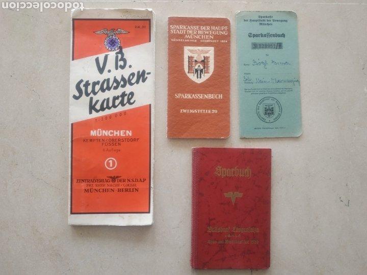 LOTE DE CARTILLAS Y PLANO DRL NSDAP DE MÚNICH (Militar - II Guerra Mundial)