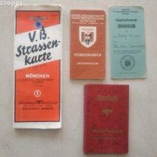 Militaria: LOTE DE CARTILLAS Y PLANO DRL NSDAP DE MÚNICH. Lote 201593980