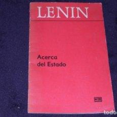Militaria: LENIN EJEMPLAR EN ESPAÑOL IMPRESO EN MOSCÚ LIBRO PCE. Lote 202490593