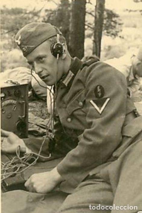 Militaria: Auriculares Dfh.a para operador de radio. Wehrmacht, Luftwaffe, AfriKa Korps, SS, 2ªGM - Foto 6 - 201144671