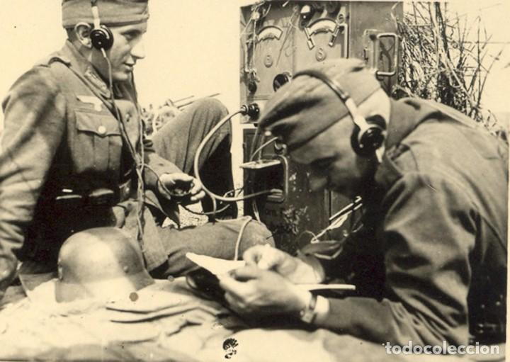 Militaria: Auriculares Dfh.a para operador de radio. Wehrmacht, Luftwaffe, AfriKa Korps, SS, 2ªGM - Foto 7 - 201144671