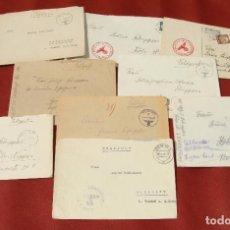 Militaria: COLECCIÓN DE 9 CARTAS CON SU SOBRE - ÉPOCA NAZI - II GUERRA MUNDIAL - FELDPOST - ESVÁSTICA - 0,01€. Lote 203757961