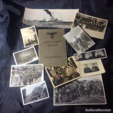 Militaria: ORIGINALES FOTOS Y DOCUMENTO ALEMÁN COMPLETO DE LA IIG.M.. Lote 203875020