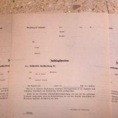 Militaria: 3 HOJAS EN BLANCO LUFTWAFFE II GUERRA MUNDIAL III REICH. Lote 203877038