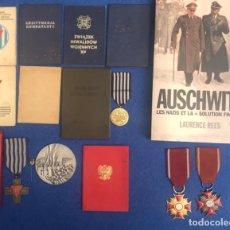Militaria: LOTE SUPERVIVIENTE CAMPO CONCENTRACIÓN DE AUSWITZ. Lote 204777653
