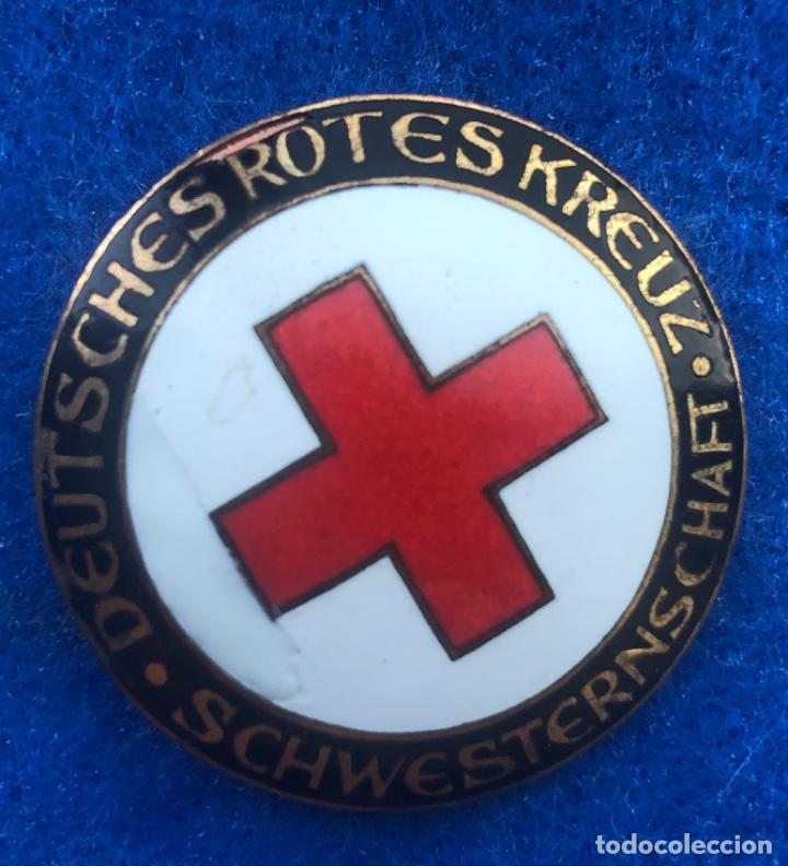 BROCHE ORIGINAL DEUTSCHES ROTES KREUZ DRK-SCHWESTERNSCHAFT (Militar - II Guerra Mundial)