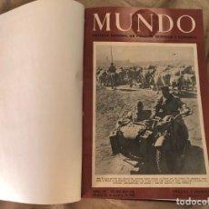 Militaria: REVISTA SEMANAL MUNDO SEGUNDA GUERRA MUNDIAL DOS TOMOS DEL AÑO 1942 A 1945. Lote 206825398