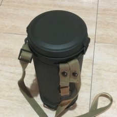 Militaria: BOTE MÁSCARA DE GAS, RÉPLICA. Lote 207135727