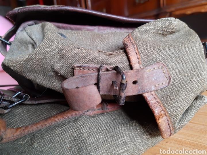 Militaria: Lote Equipo francés 1936 2ª Guerra Mundial WW2. Bolsa Mochila - Foto 9 - 208665272