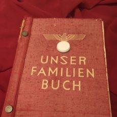 Militaria: UNSER FAMILIEN BUCH / LIBRO DE FAMILIA DEL PARTIDO NAZI ALEMAN. Lote 208793303