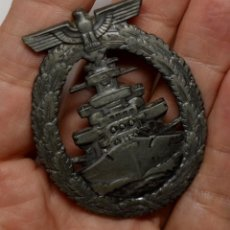 Militaria: DISTINTIVO DE LA FLOTA DE ALTA MAR DE ALEMANIA DURANTE LA SEGUNDA GUERRA MUNDIALMODELO DE ZINC. Lote 209715655