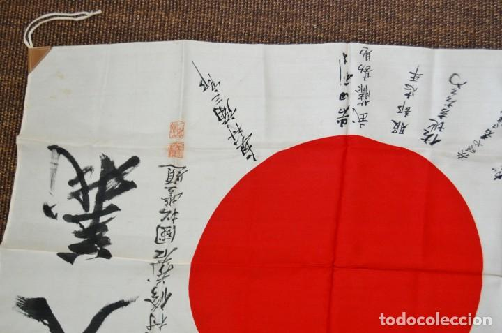 Militaria: RARISIMA BANDERA DE SEDA JAPONESA.HATA DE MR.OKUMURA.SEGUNDA GUERRA MUNDIAL - Foto 2 - 209968455