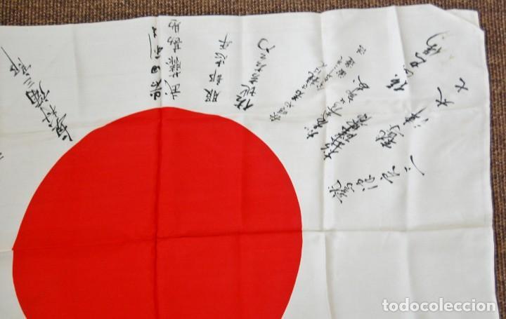 Militaria: RARISIMA BANDERA DE SEDA JAPONESA.HATA DE MR.OKUMURA.SEGUNDA GUERRA MUNDIAL - Foto 3 - 209968455