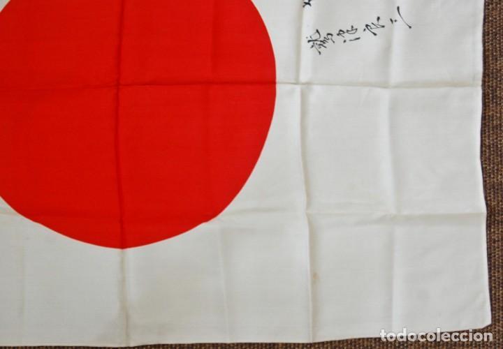 Militaria: RARISIMA BANDERA DE SEDA JAPONESA.HATA DE MR.OKUMURA.SEGUNDA GUERRA MUNDIAL - Foto 4 - 209968455