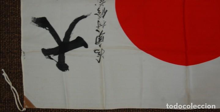 Militaria: RARISIMA BANDERA DE SEDA JAPONESA.HATA DE MR.OKUMURA.SEGUNDA GUERRA MUNDIAL - Foto 5 - 209968455