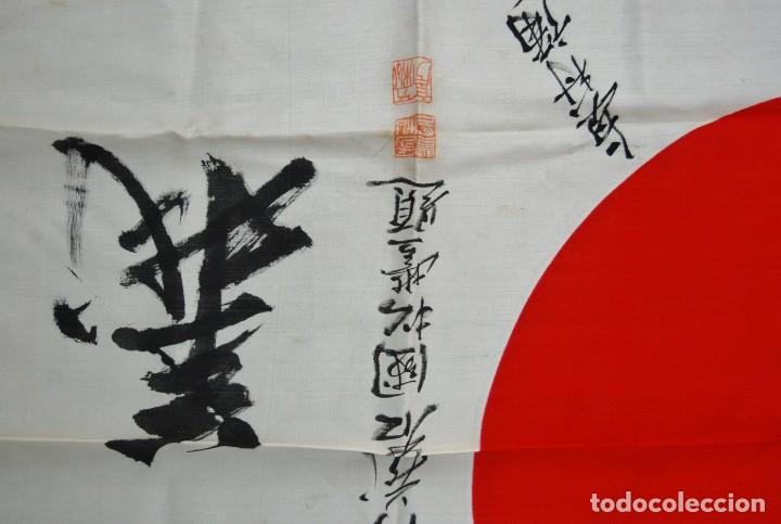 Militaria: RARISIMA BANDERA DE SEDA JAPONESA.HATA DE MR.OKUMURA.SEGUNDA GUERRA MUNDIAL - Foto 7 - 209968455